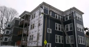 A before image of Siding in Boston MA