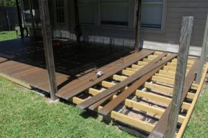 Composite decking provides homeowners with less needed maintenance