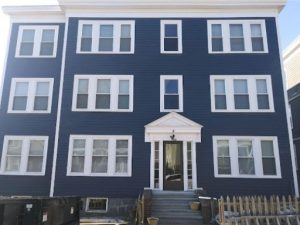 An After Image for a Novus Exteriors Project in Boston showing new Siding
