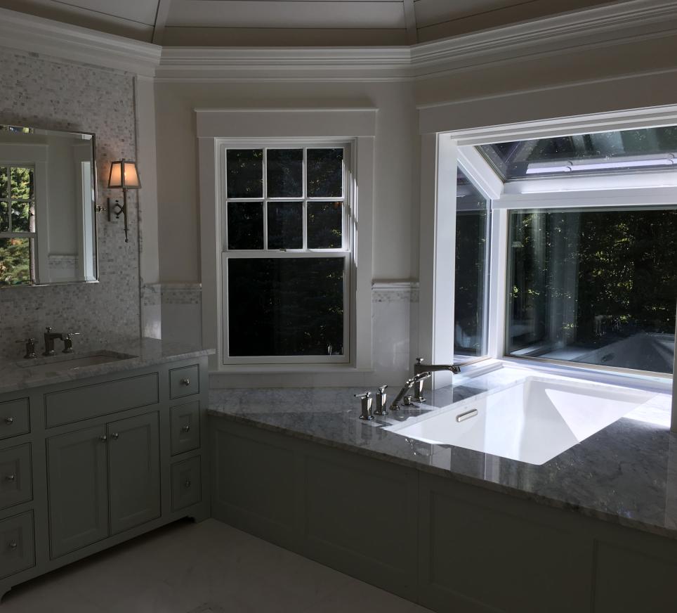 A bathtub installed by Novus Exteriors